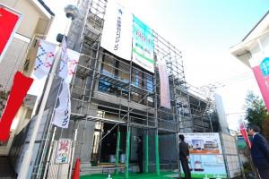 「建築現場見学会」の会場(於:浜田山住宅公園)