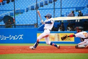 タイムリー3ベースヒットの駒澤大学・前田選手