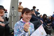 会場にはナガセケンコー女子監督の平田清乃さんの姿が!ミニミニオリジナルシャープペンを使ってくれてました♪
